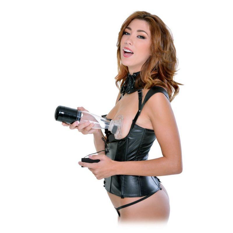 Estimulador Vaginal Con Vibro Fetish Fantasy Extreme Power Pump Tit Clit N'