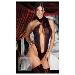 Body erótico en Tull elastizado y Eco Cuero-1